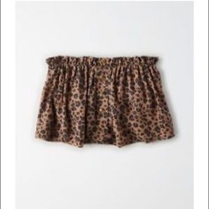 Leopard button up tube top